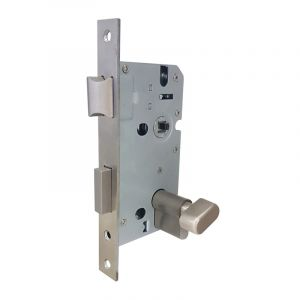 Cylinder Lock Body, Thumb Lock, Chrome Plated