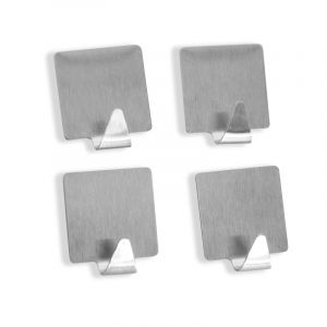 Square Hooks, Stainless Steel, 4 Pieces