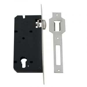 Cylinder Deadlock with Roller, Chrome