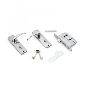 Yale 2 Lever Lock Set, Chrome Plated