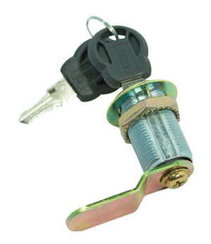 Cam Lock, Offset, 30mm, Key Alike, Chrome Plated, 002 Red